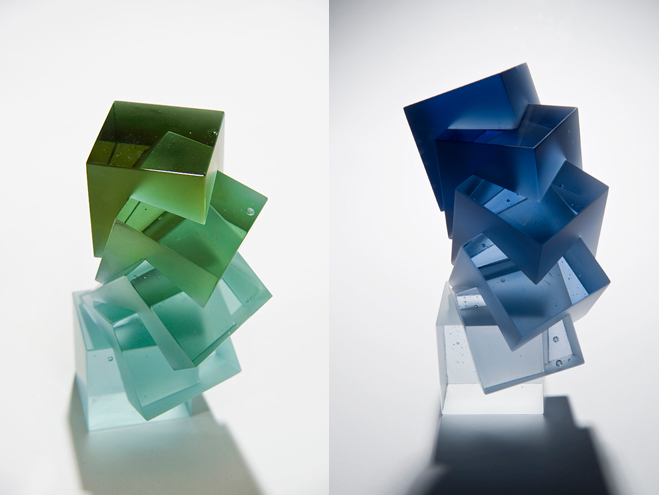 Colour,-Form-and-Light---Solid-Transparent-Glass-Sculpture-by-Heike-Brachlow-9