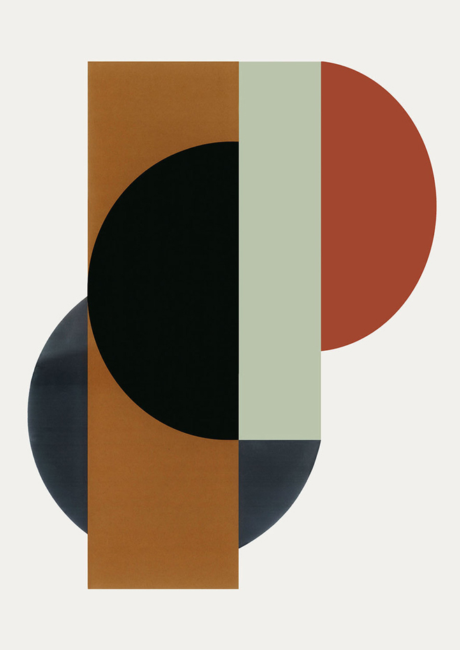 Strict composition abstract art prints by danish for What is danish design
