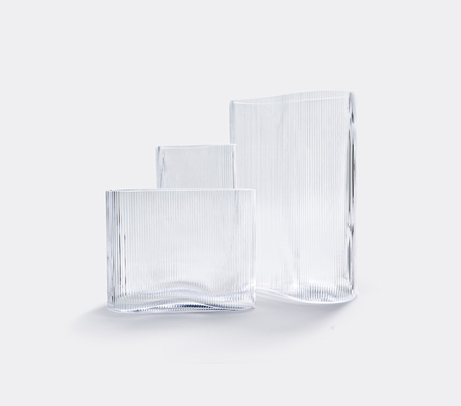 Ripples Surface Variation Mist Glass Containers By