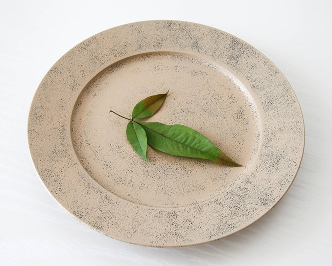 White Lacquer Plate by Fujii Works
