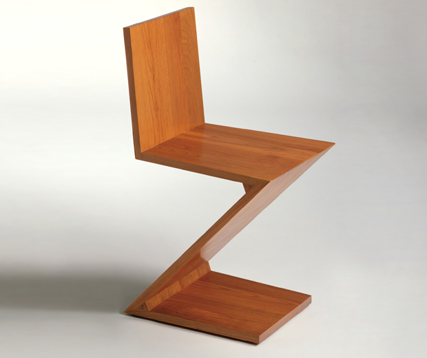 Zig zag chair designed by gerrit thomas rietveld oen - Architect designed furniture ...