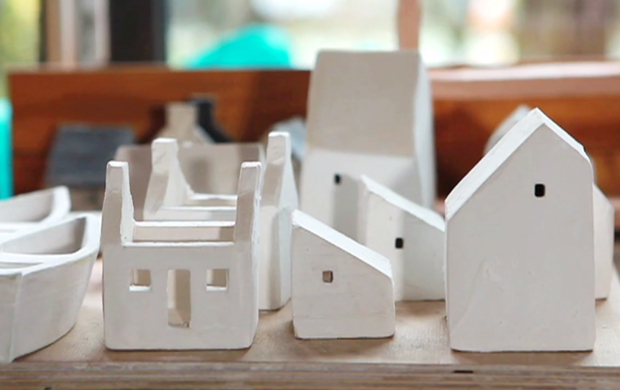 Ceramic Houses by Rowena Brown 3