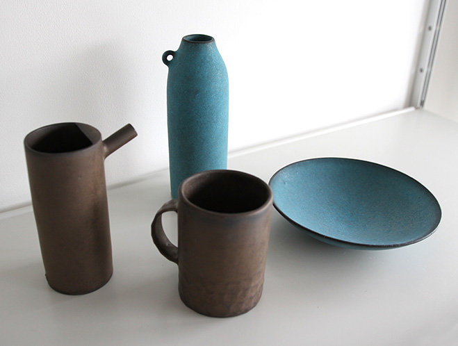 Blue Wide Bowl - Ceramics by Keiichi Tanaka at OEN Shop 1