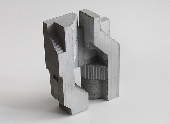 Cubic Geometry Concrete Modular Sculptures By Artist