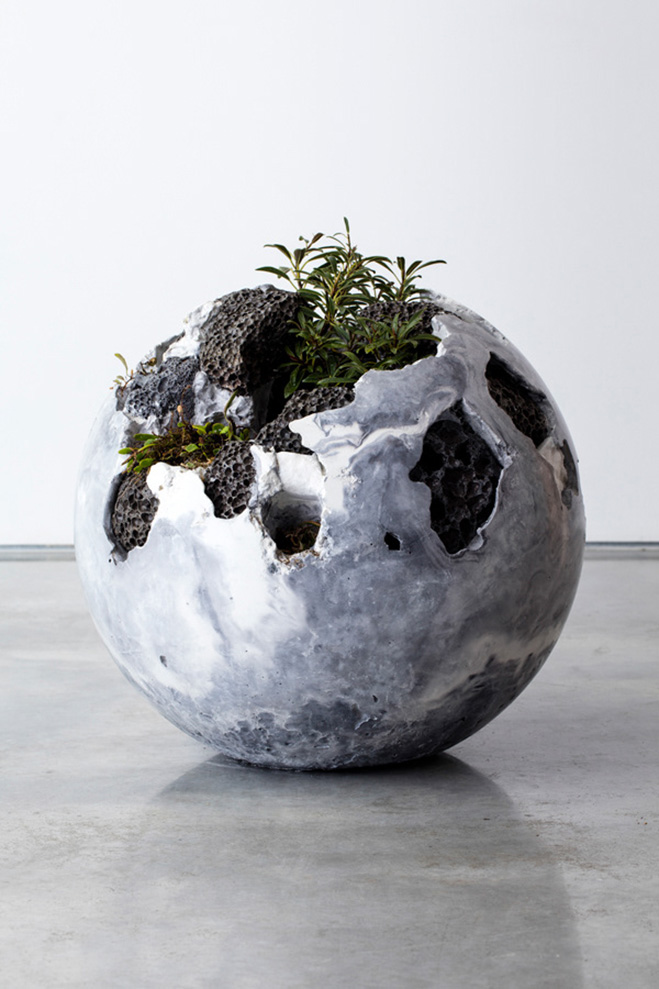 Opposites Colliding Concrete Amp Plant Sculptures By
